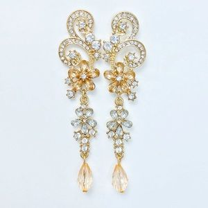 Prom Pageant Bridal Jewelry - Crystal Chandelier Prom Pageant Bridal Earrings
